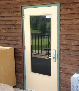 Installing Front Doors for Fort Davis, Washington DC Shops