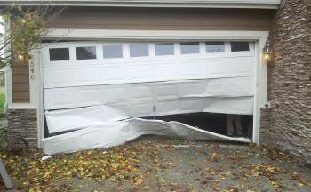 repair garage door damage DC Maryland
