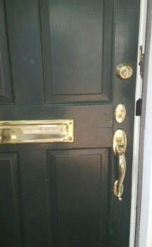 Cecil County MD Install Hardware on Front Door