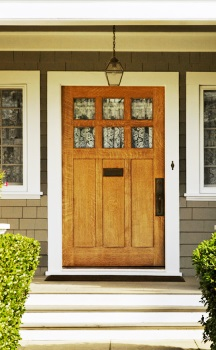 Calvert County MD Installation of Big Wooden Front Door